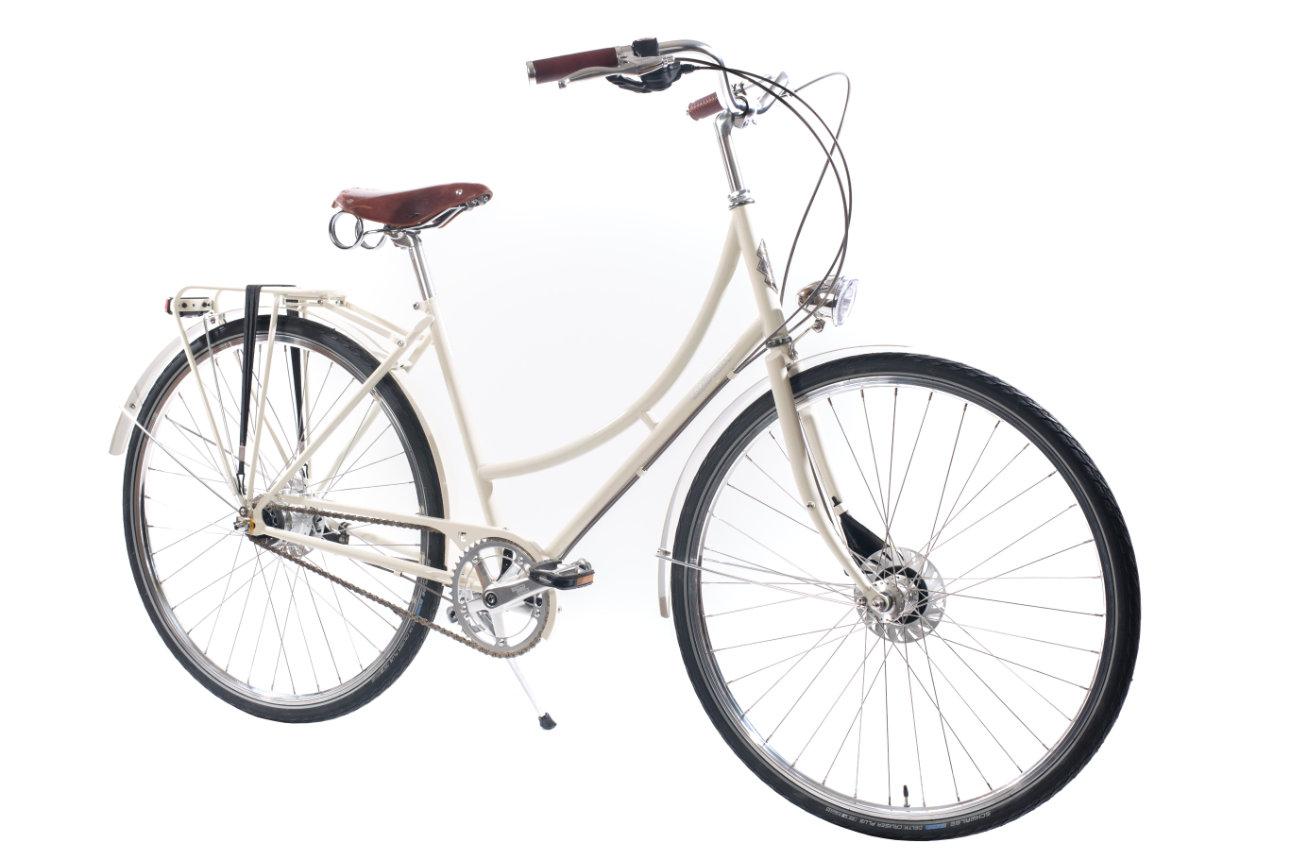 Ērenpreiss Paula Ivory sieviešu velosipēds baltā krāsā - An Erenpreiss Paula Ivory women's city cruiser bike